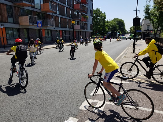 The annual Hackney Schools' cycle ride (c) Tim Webb