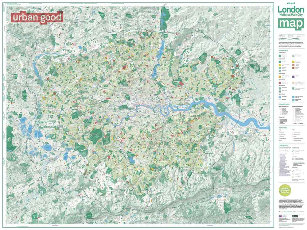 Great London Map.London 2nd October 2017 Beautiful New Map Of London Created To