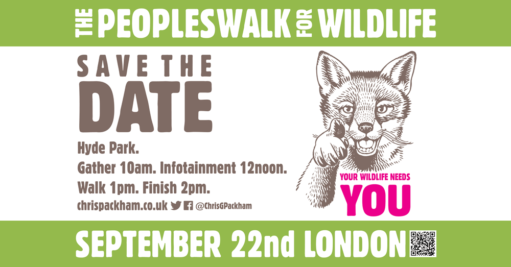 Join the People's Walk for Wildlife 22 Sep